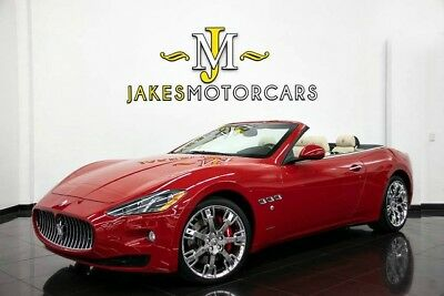 2015 Maserati Gran Turismo Convertible (ONLY 7600 MILES!) 2015 GRAN TURISMO CONVERTIBLE~ ONLY 7600 MILES! ~ RED ON WHITE~ BLACK PIANO WOOD