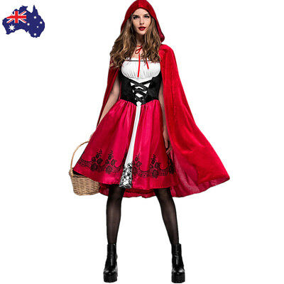 AU STOCK Deluxe Little Red Riding Hood Book Week Fairytale Dress Up Costume