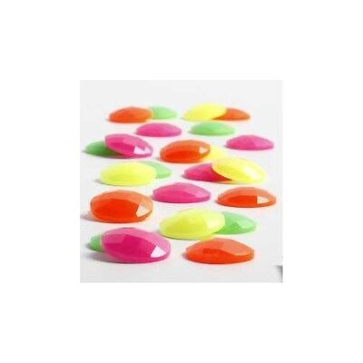 Cabochons, D: 14 mm, thickness 4 mm, neon colours, 300mixed [HOB-68012]