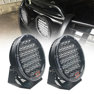 2 x 9 inch Round LED Driving Lights Offroad Spot 4x4 Lights Black