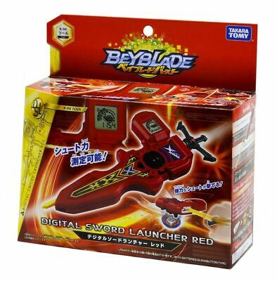 Takara Tomy Beyblade BURST B-94 Digital Sword Launcher (Red)
