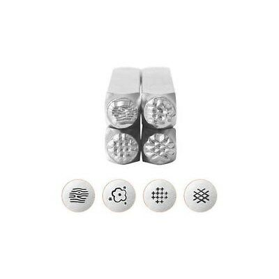 Embossing Stamps, size 6 mm, L: 65 mm, Graphic pattern 2, 4pcs [HOB-67579]