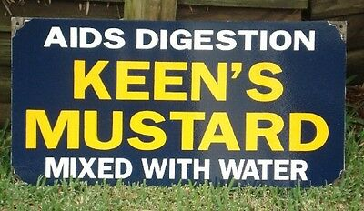 Keens Mustard Enamel Sign (Made To Order) #23#