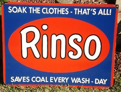 Rinso Enamel Sign (Made To Order) #27#