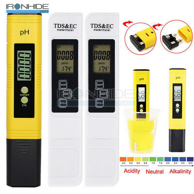 Digital PH Meter Tester Aquarium Pool LCD Pen Monitor TDS EC Water Meter Tester