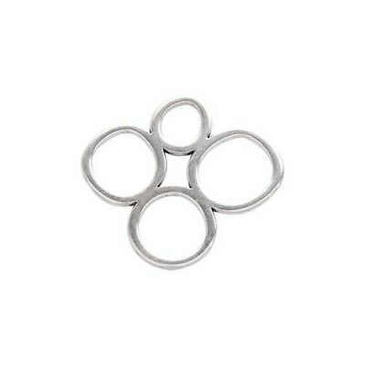Jewellery Pendant,  40 mm, silver-plated, 1pc [HOB-61166]