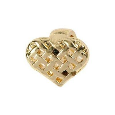 Heart, size 13x11 mm, gold-plated, 1pc [HOB-60597]