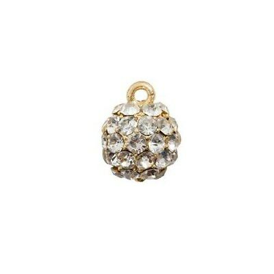 Charms, D: 11 mm, gold-plated, 1pc [HOB-60577]