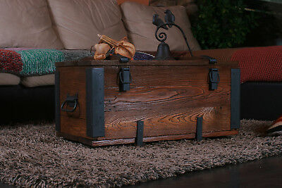 Coffee Table Travel Old Chest Trunk Cottage Steamer Vintage Trunk Retro