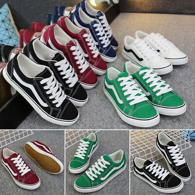 Classic Mens Women Canvas Sneaker OLD SKOOL Lace-up Trainers Sport Running Shoes