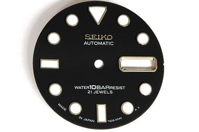 Dial for Seiko 7S26-0040 divers watches - Black - made in Japan