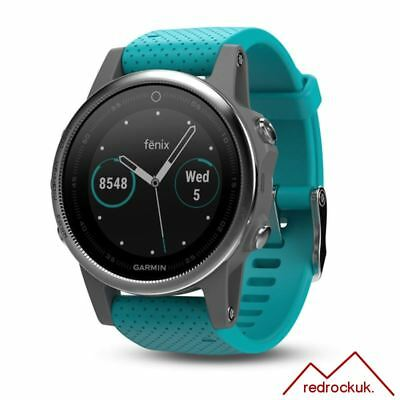 Garmin Fenix 5S Multisport GPS Sports Watch HRM - Turquoise