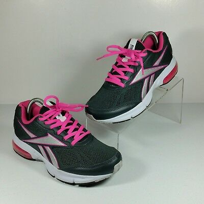 Reebok Women s Athletic Running Monofusion Mesh Sneaker Shoes Gray Pink  Size 8.5 a8d1ae0e8