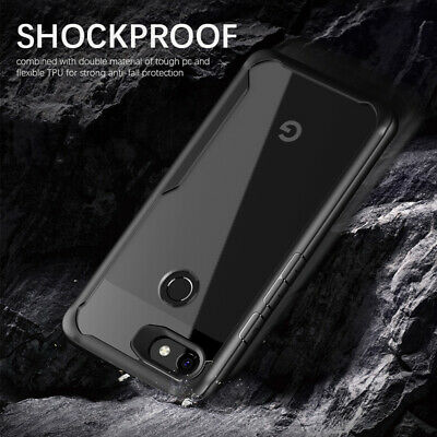 Clear TPU Acrylic PC Plastic Shockproof back Cover Case For Google Pixel 3 2 XL