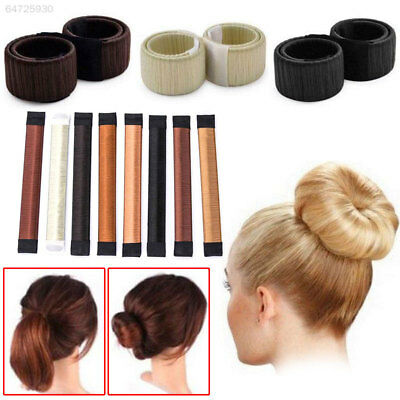 0403 Women Hair Styling Donut Former Foam French Twist Tool Bun Maker Tools