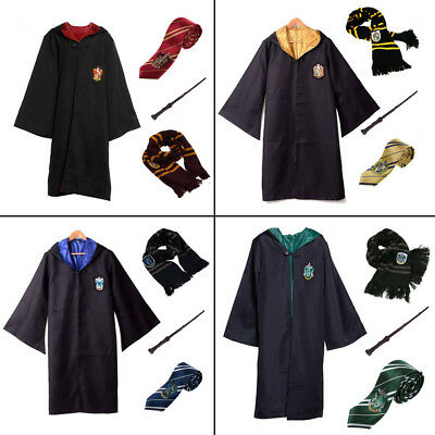 Mantello Harry Potter Cosplay Costume Mantella Sciarpa Cravatta Bacchetta Magica