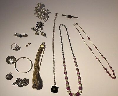 Nice Collection / Job Lot Of Vintage / Antique Jewellery Inc Silver