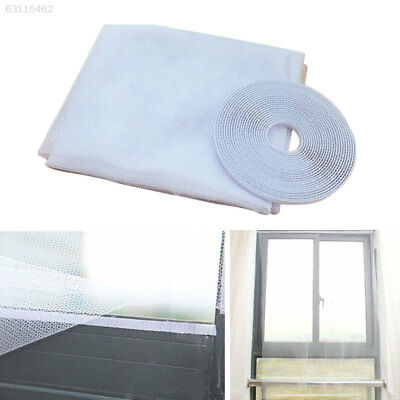 8A41 DIY Mesh Window Magic Curtain Snap Fly Bug Insect Mosquito Screen Net White