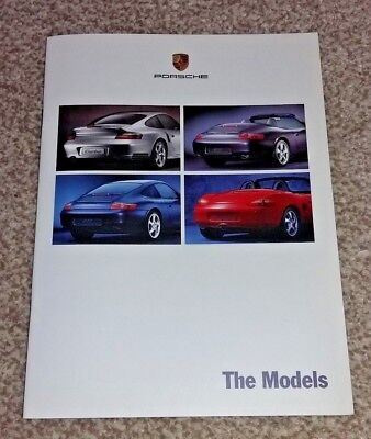 Porsche 911 Turbo, Carrera 4, Cabriolet & Boxter Models Sales Brochure 1999