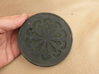 Antique French Pierced Clock Back Door Fits Aperture Of 10.8Cm