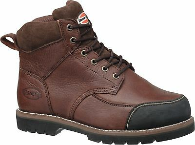"""6""""H Men's Work Boots, Steel Toe Type, Leather Upper Material, Brown, Size 9-1/2W"""