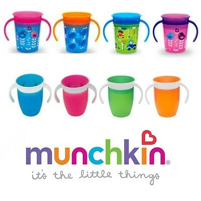 Baby Kids Cup No Spill Plastic 360° Training Drinking Mug With Lid