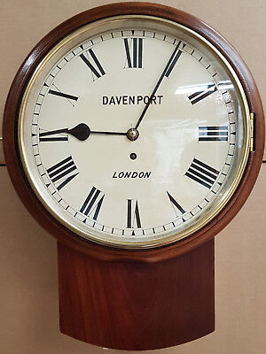 "Excellent working 12"" chain-driven  Fusee London Drop Dial Clock ca 1900."