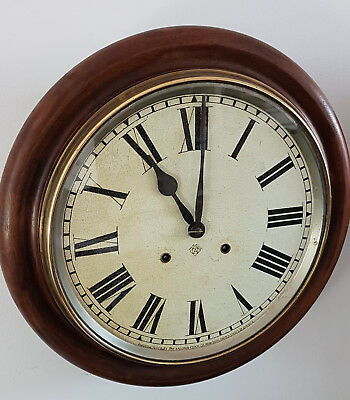 A Remarkable example of a Victorian Ansonia Striking School/Railway Clock in GWO