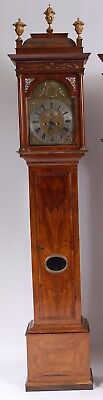 London 8 Day Georgian Longcase Clock Royal Maker Baron  Stunning Walnut Case