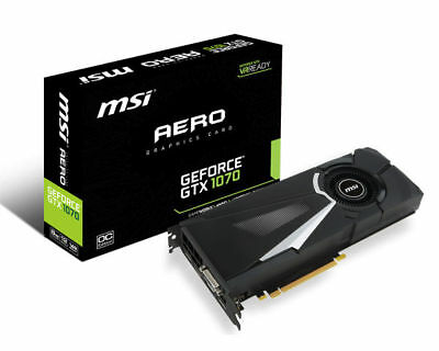 MSI GeForce GTX 1070 Aero OC | 8GB GDDR5 | Afterburner Ready |GAMING Grafikkarte