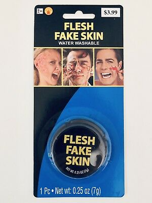 Flesh Fake Skin Prosthetic Halloween Costume Makeup Special Effects Wound Scar