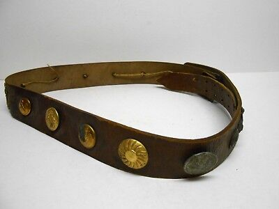 WWI Souvenir or Hate Belt with Buttons and Pins