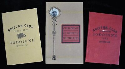 1895 Griffon Belge Club Dog French Illustrated Book Catalog & Member List (3)