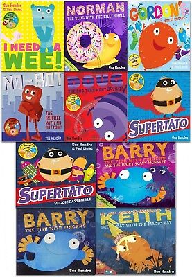 Sue Hendra Supertato and Other Stories Collection 10 Books Set Children Stories