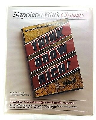Think and Grow Rich by Napoleon Hill - Complete - 8 Audio Cassettes and Book(s)