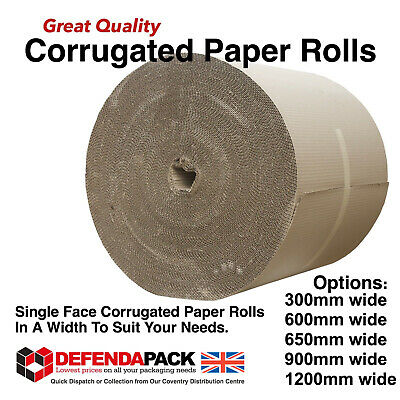 Single Face Corrugated Packing Paper 75m Rolls 300mm 600mm 650mm 900mm 1200mm