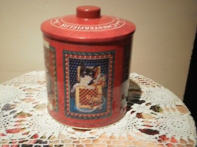 Chesterfields Fine Foods - Ivory Cats Biscuit Assortment Biscuit Barrel - Tin
