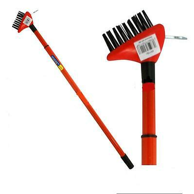 2 In 1 Wire Patio Brush Deck Block Paving Weed Garden Scraper With Hook