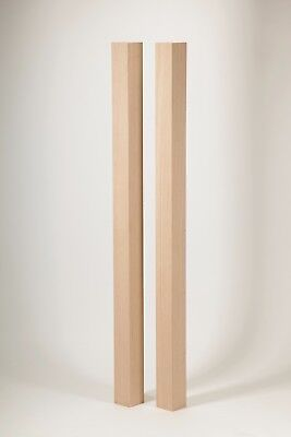 Oak 90mm Square Stair Newel Post 1500mm with Oak Flat Cap - FREE DELIVERY!
