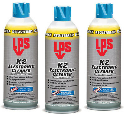 3 Cans - Lps K2 Electronic Cleaner 11 Oz. Aerosol - 3 Cans
