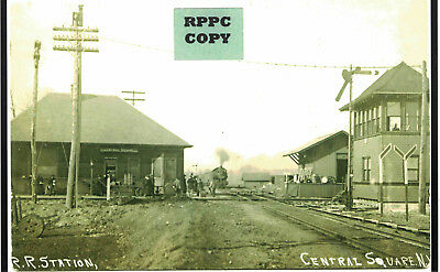 Ontario & Western Railroad Depot (train station) at Central Square, Oswego Co NY
