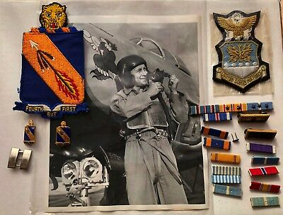 WWII Korean War USAF Air Force 4th FIW Fighter Group Wing Pilot Named Patches ++