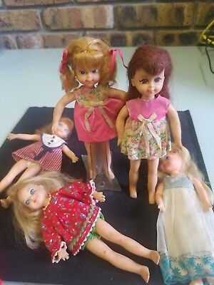 Mixed lot of Mattel poseable dolls from the 1960's and 70's comes with extras!