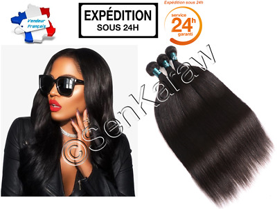Promo ! Extension Tissage Bresilien 100% Naturel Certifie Virgin Hair Remy 100G