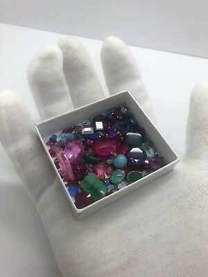 Large lot Collection mixed gemstones, Approx 165 Ct From 14k 18k Gold jewelry