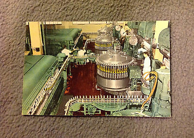 VINTAGE POSTCARD -MILLER BREWING COMPANY BOTTLING PROCESS -MILWAUKEE -unposted