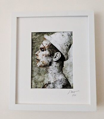 DAVID BOWIE ASHES Artwork Framed Fine Art Giclee Print 12x10 Ltd. Ed and Signed