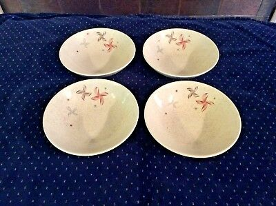 4 Fruit Bowls W. S. George China Sierra Mid Century Modern Atomic