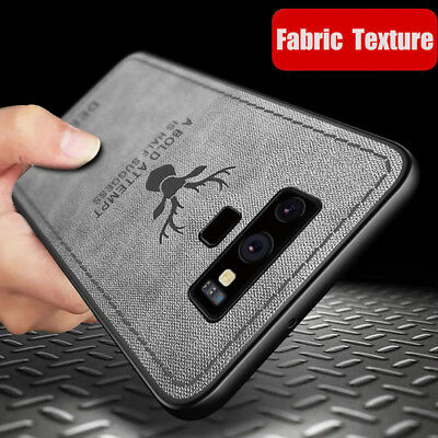 For Samsung Note 9 S8 S9 Patterned Hybrid TPU Leather Case Soft Shockproof Cover