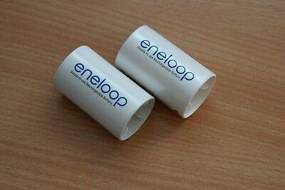 Sanyo eneloop Mignon (AA) auf Mono (D) Adapter, 2er Pack, NCS-TG-D